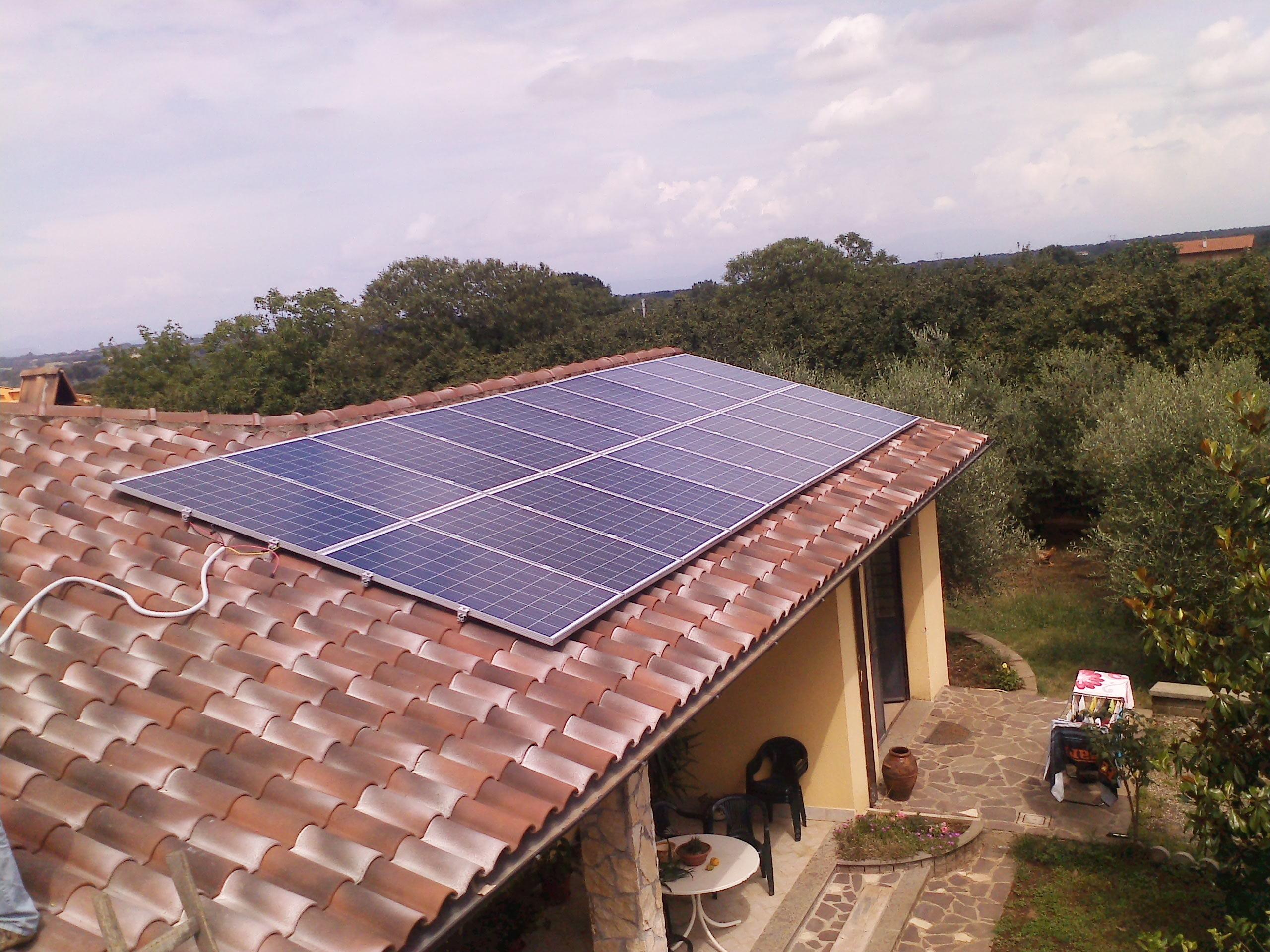 impianto fotovoltaico soriano nel cimino 4,6 kWp