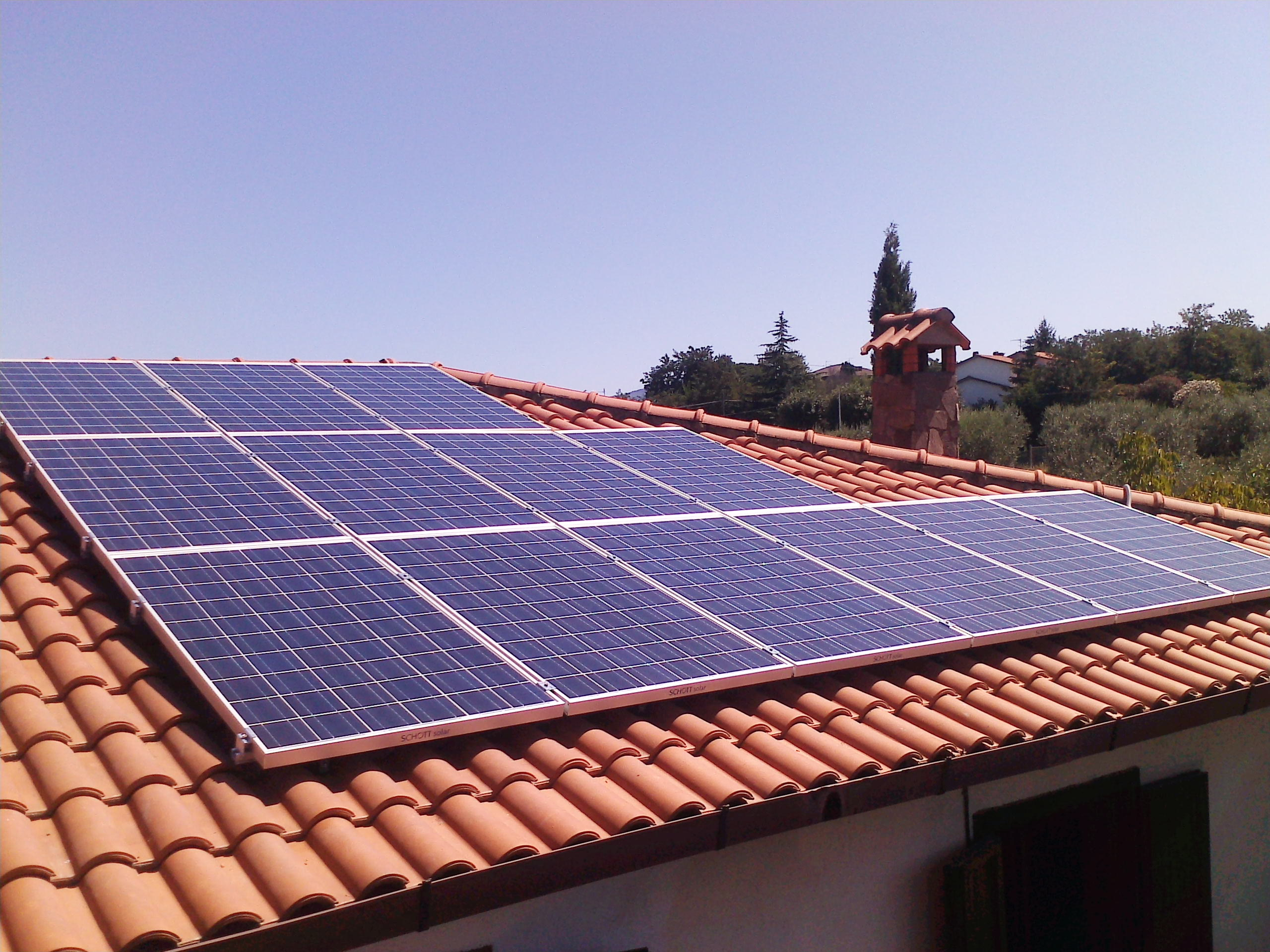 Impianto fotovoltaico viterbo 3 kWp
