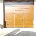 Porta sezionale da garage con porta pedonale caprarola viterbo