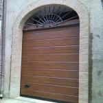porta sezionale da garage finto legno