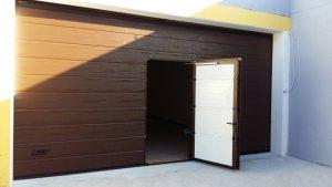 installazione porta da garage a orte con porta pedonale nel manto