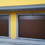 installazione due porte sezionali da garage finto legno