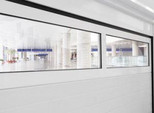 porte sezionali da garage finestrate