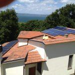 installazione impianto fotovoltaico a bolsena con vista sul lago