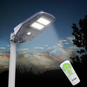 lampione solare con telecomando