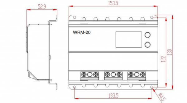 dimensioni regolatore di carica wrm20