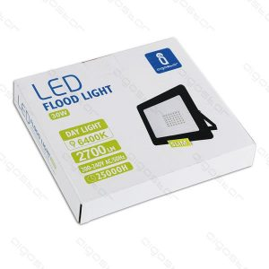 faretto slim nero 30 watt led