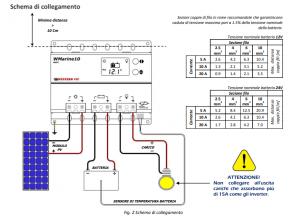 schema di collegamento regolatore di carica wmarine10